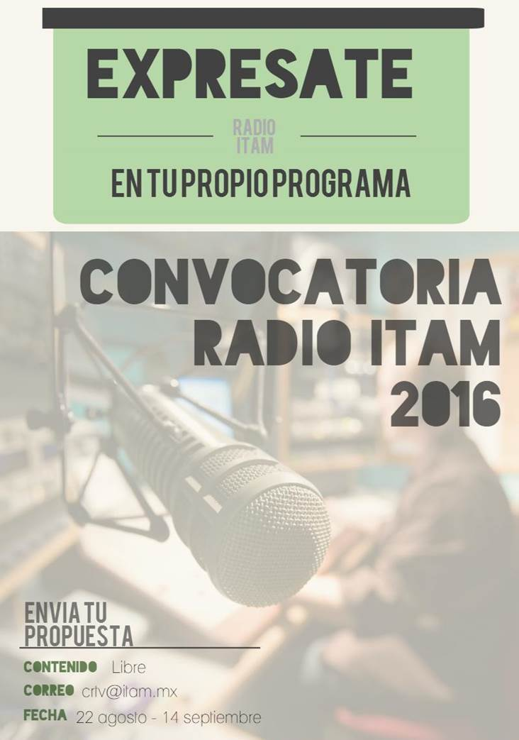 Convocatoria Radio ITAM
